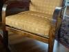 Solveigs karmstol klädd i tyg från Kolovrat